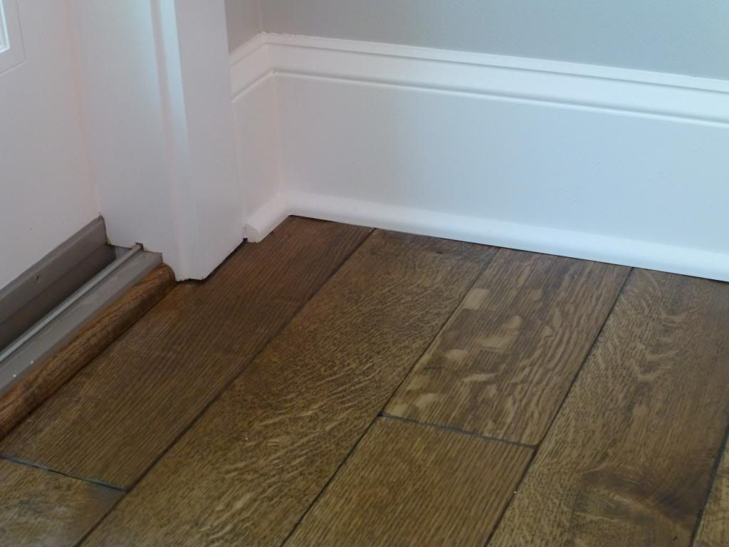 How To Trim The Base Board With Darker Wood Floors Use