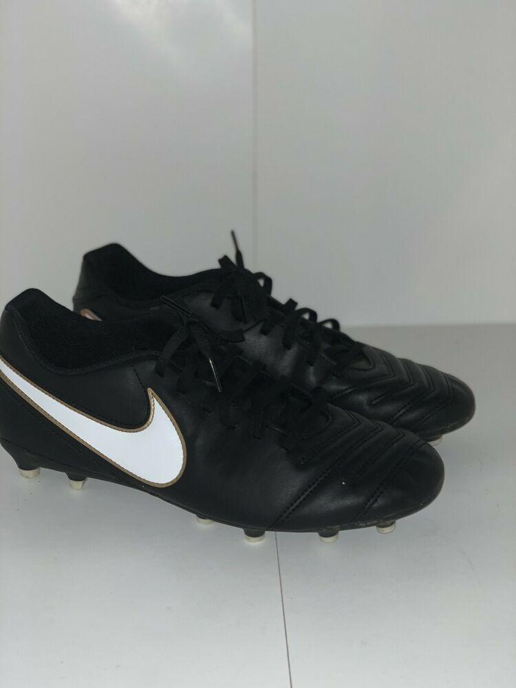 e1d3d6307 Advertisement(eBay) New Nike Tiempo Rio III fg Soccer Cleats Black White  819233-