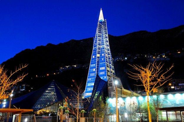Andorra la Vella (Andorra, Europe) by night