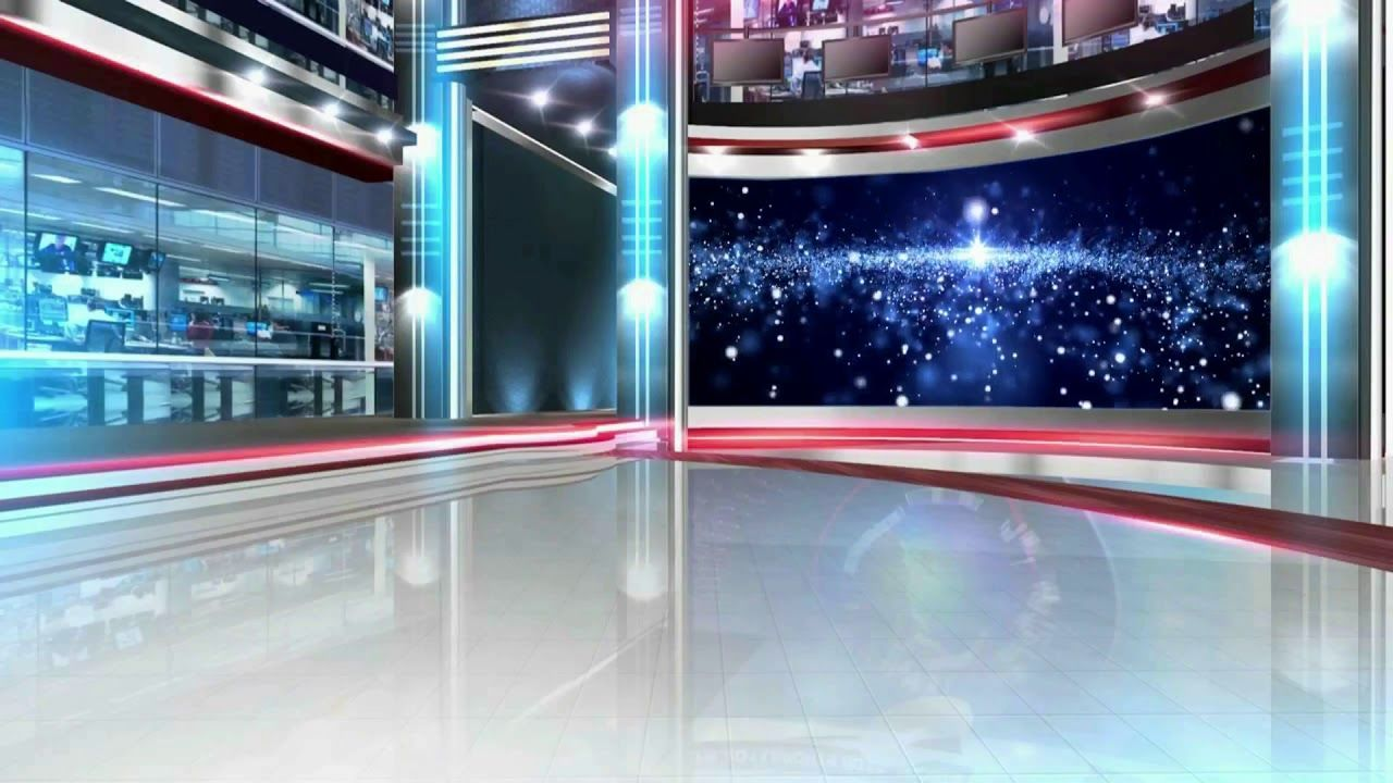 TV Studio Set Royalty Free Motion Background Loops HD