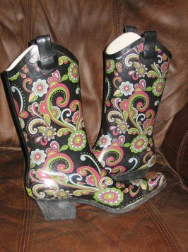 Paisley Western Chief Multi Boots $47