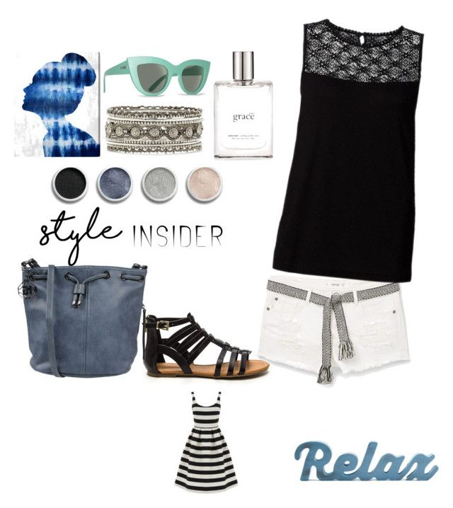 """""""relax"""" by suzannekobb on Polyvore featuring MANGO, Marina Galanti, Billabong, Terre Mère, philosophy, Forever 21, Oliver Gal Artist Co. and Warehouse"""