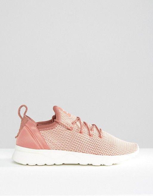939181a5eca96 adidas Originals Dusky Pink Zx Flux Adv Sneakers