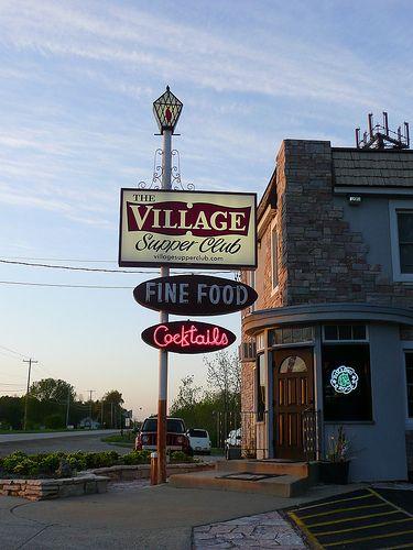 Pleasant Prairie Wi The Village Supper Club Sign Wisconsin