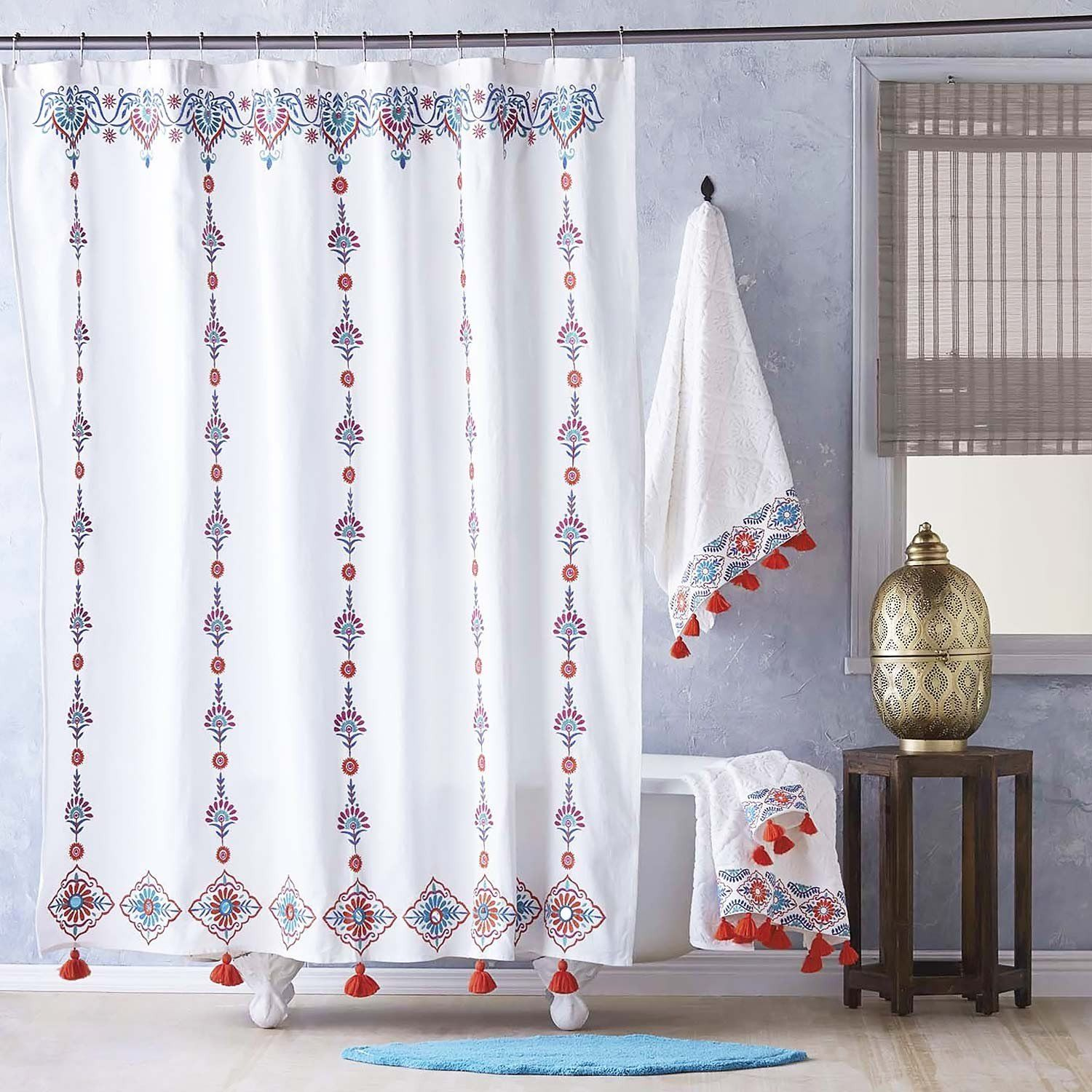 Aloka Coral Shower Curtain By John Robshaw Coral Shower Curtains