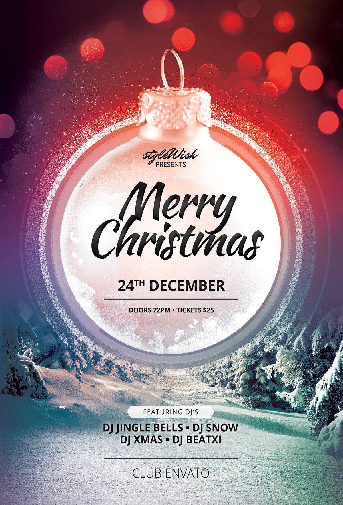 Christmas Flyer Template Merry Christmas Flyer Template On Behance In 2020 Christmas Flyer Template Christmas Poster Design Christmas Flyer