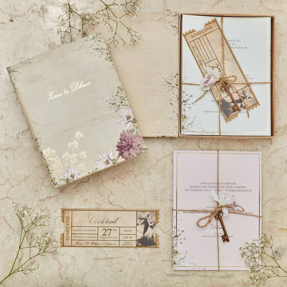 Wedding Invitation With Vintage Touch
