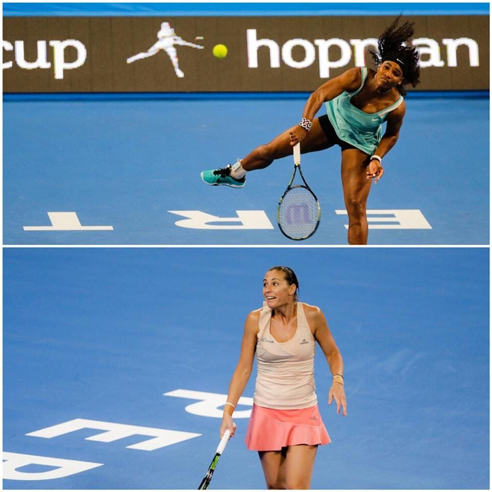 1/5/15 Ladies Singles Highlights HD #HopmanCup 2015: Serena Williams def. Flavia Pennetta 0-6, 6-3, 6-0. Espresso service needed. USA 3: ITA 0