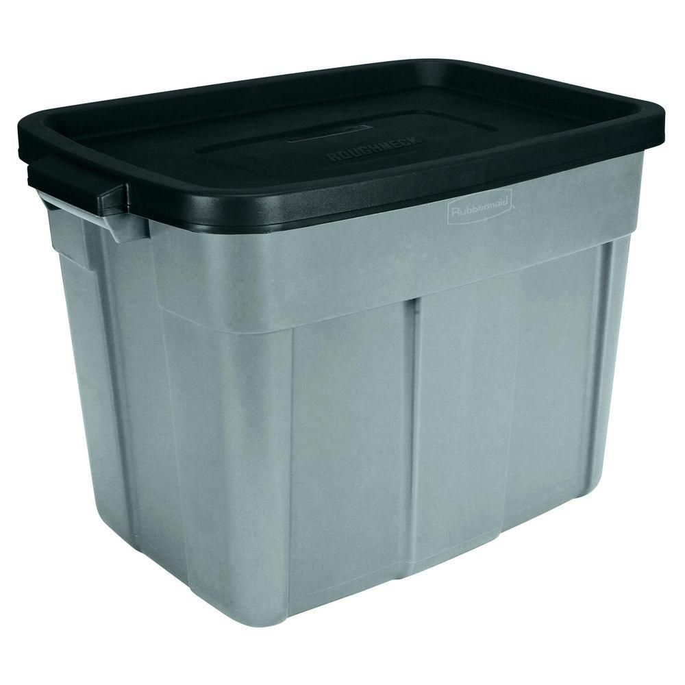 Home Depot Recycling Bins Rubbermaid 18 Galroughneck Tote  Cat Stuff  Pinterest  Products