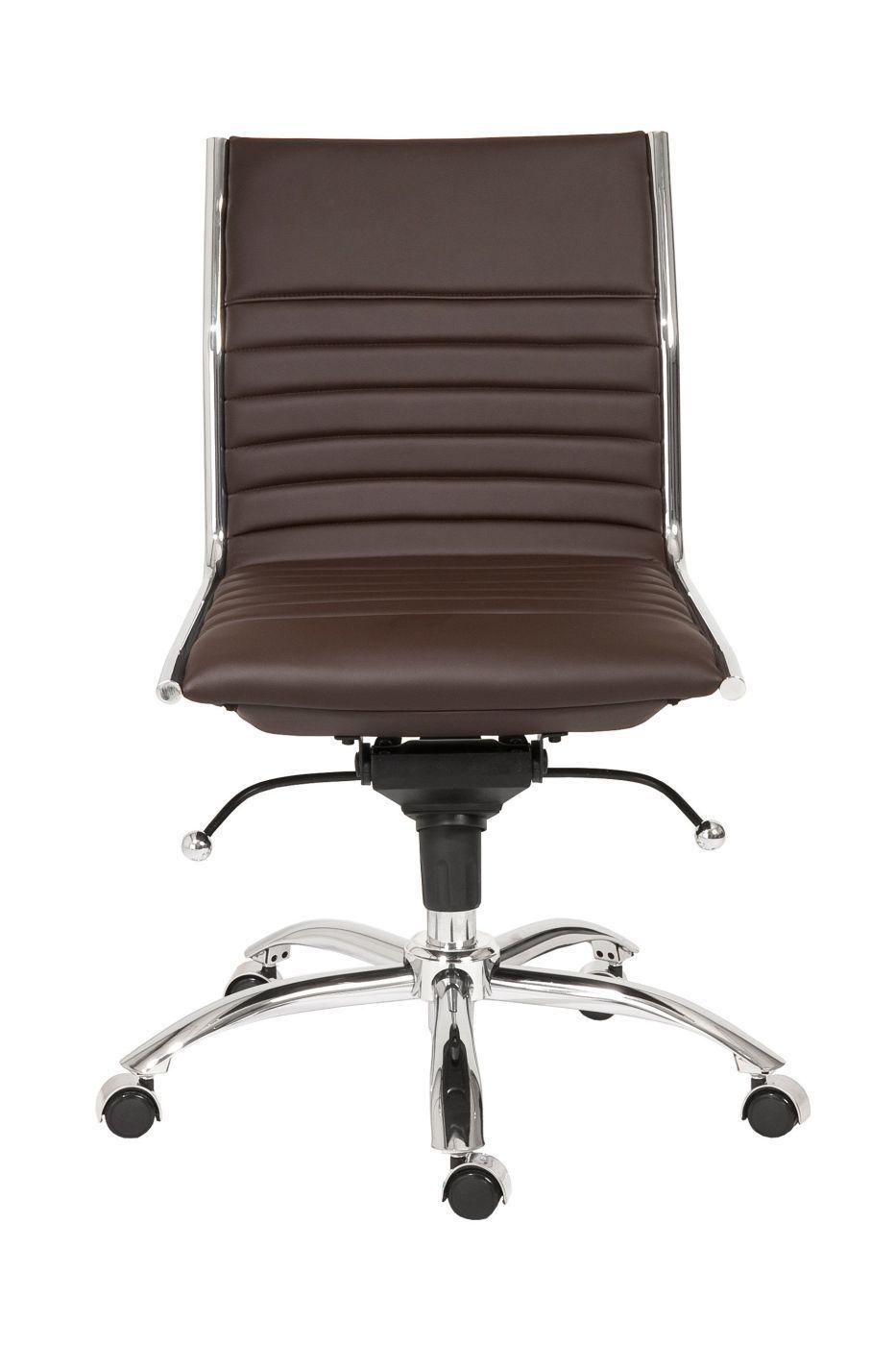 Buy euro style euro01266brn dirk low back office chair