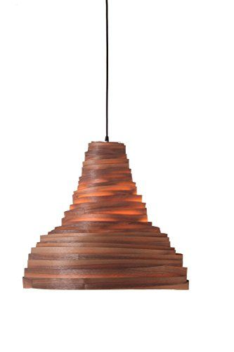 Amazon walnut wood veneer bell shaped lamp shade modern amazon walnut wood veneer bell shaped lamp shade modern ceiling pendant light aloadofball Choice Image