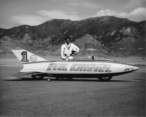 Murdercycles Evel Has Jumped The Shark: Evel And The Sky Cycle X1 Prototype.