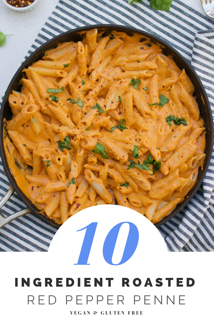 Vegan Roasted Red Pepper Penne