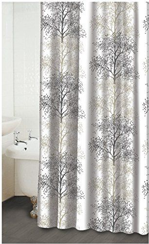 Earlygreen 72 Inches X78 Waterproof Fabric Shower Curtain Liner With Hooks Elegance Grey Tree Design