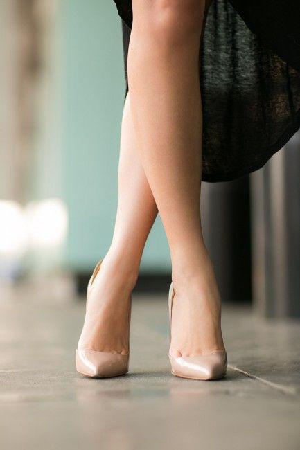 :: Outfit ::    Top :: Rebecca Minkoff blazer (again here)  Dress :: Forever 21 (again here) (similar here)  Shoes :: Christian Louboutin (similar here)  Bag :: Proenza Schouler  Accessories :: Tory Burch necklace, nude belt (similar here), Estelle Dévé bracelet,  Deborah Lippmann 'It's raining men' polish