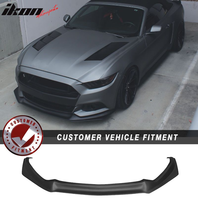 Details About Fits 15 17 Mustang Front Bumper Lip Spoiler With