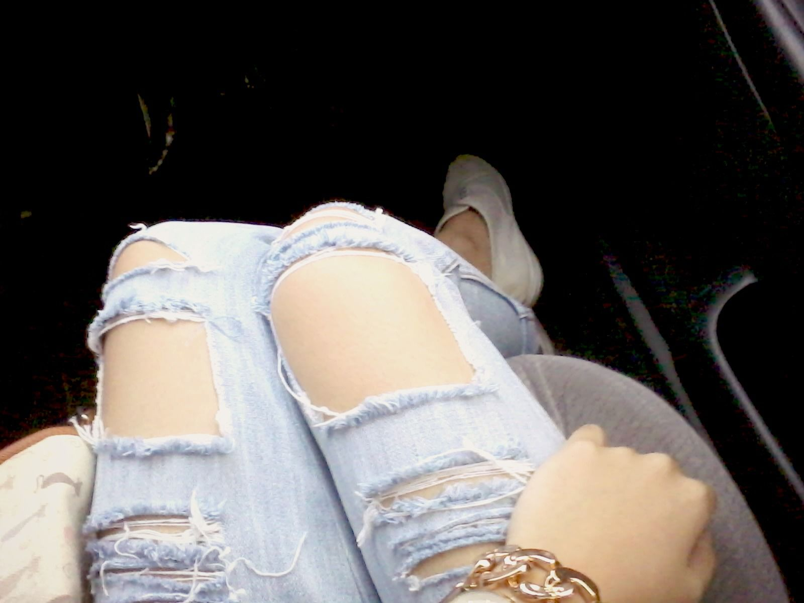 Made my own ripped jeans and they actually turned out nice! #deets #worthit #longprocess HAHA!