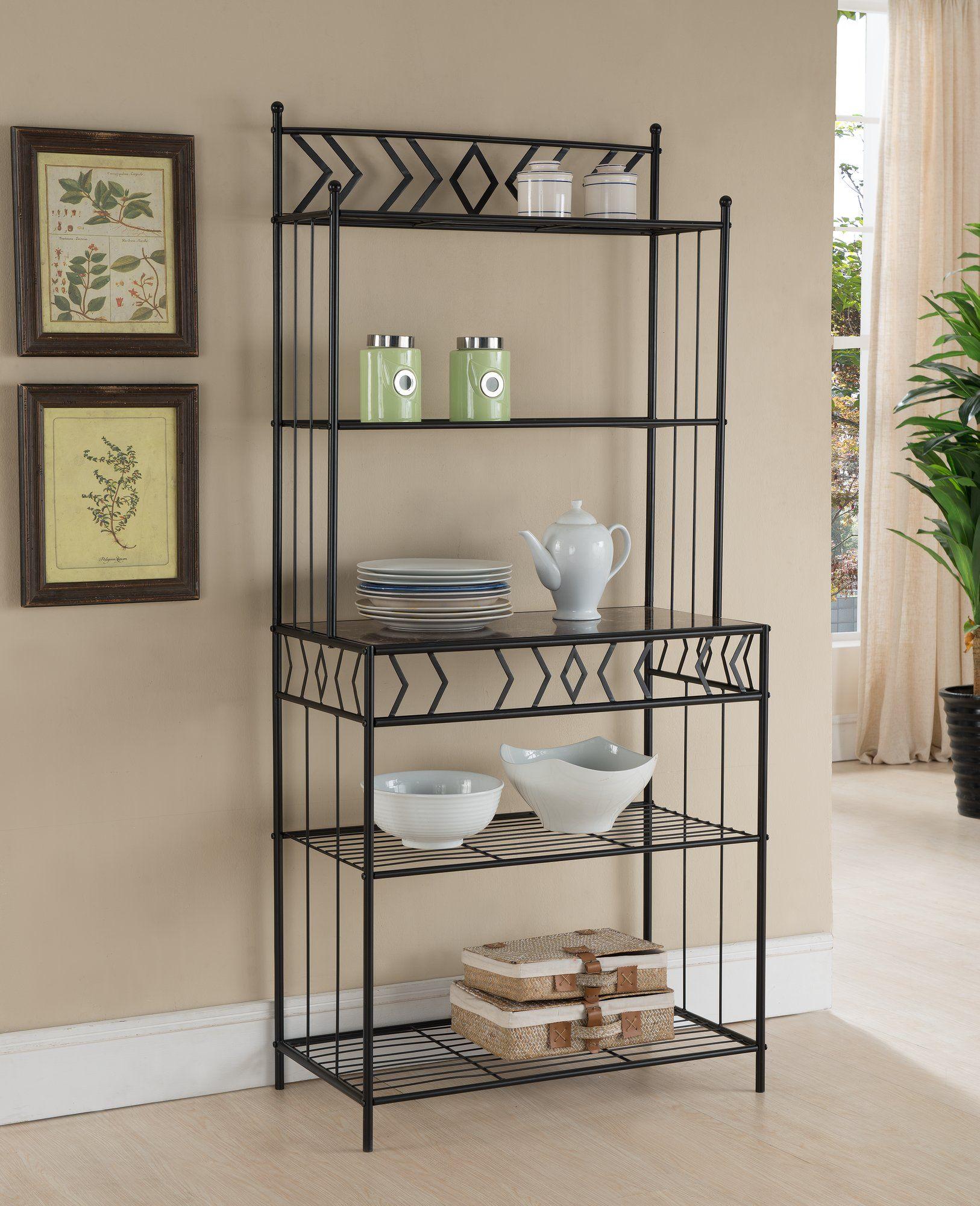 Barajas Metal Storage Baker S Rack Furniture Bakers Rack