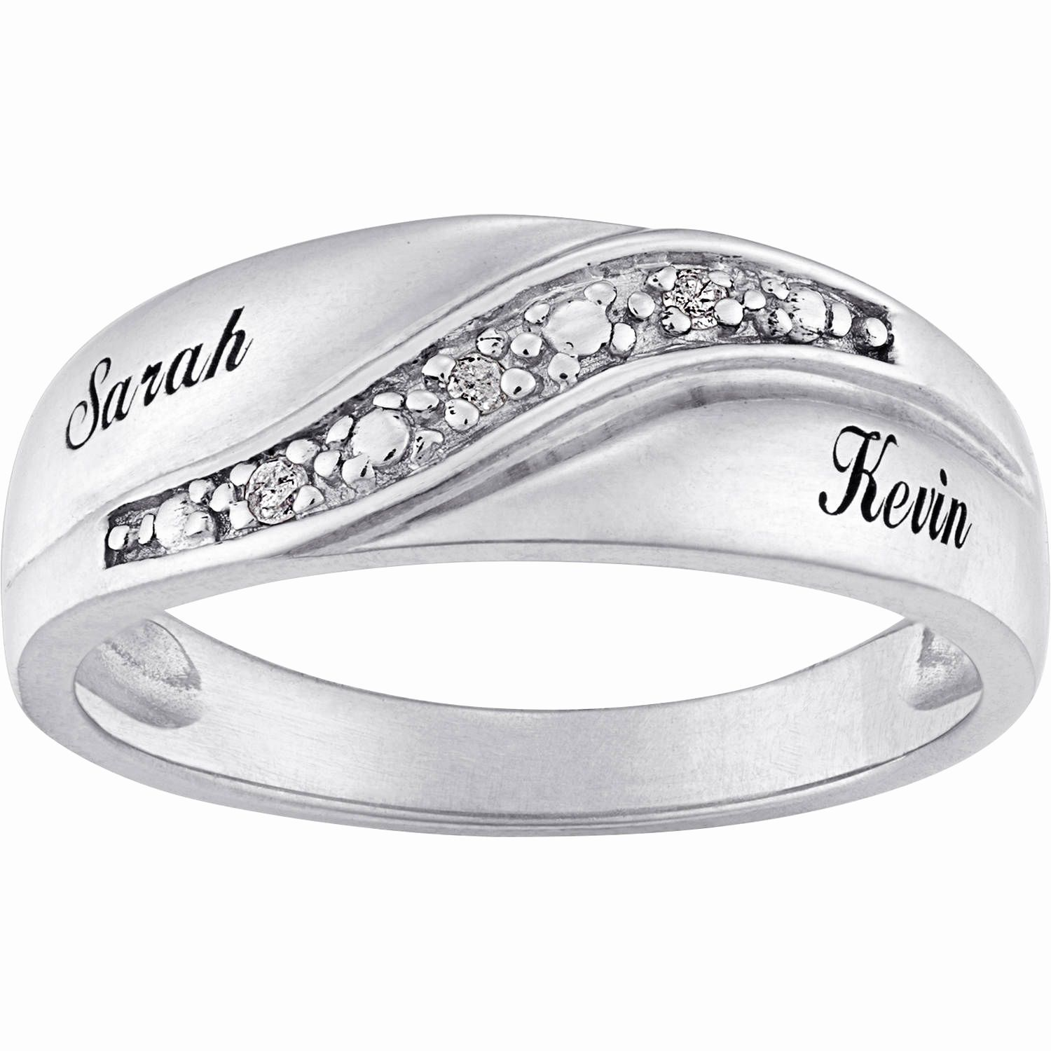 Guys Wedding Rings Unique Personalized Sterling Silver