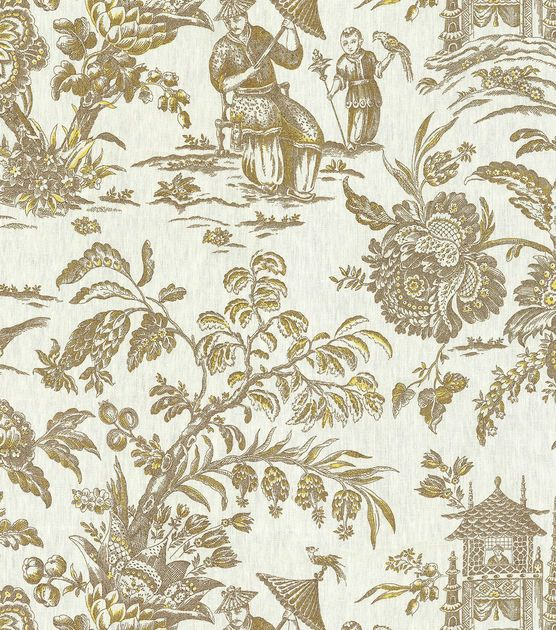 P K Lifestyles Lightweight Decor Fabric 54 Asian Arcadia Sepia With Images Asian Home Decor Fabric Decor Printing On Fabric