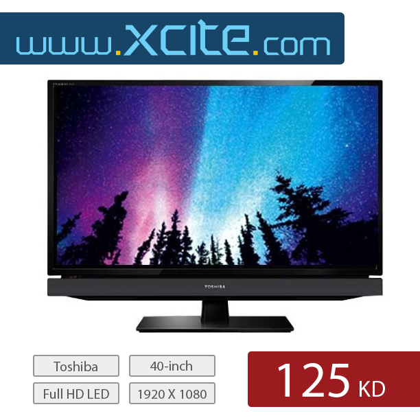 Today S Online Deal Toshiba 40 Inch Full Hd Led Tv Available On Our Website For Only 125 Kd عرض اليوم تلفزيون من توشيبا ٤٠ بوصة Led Tv Toshiba Television