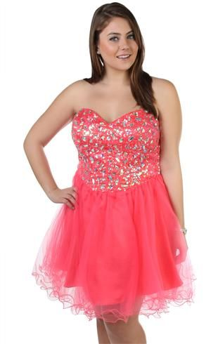 plus size sweetheart corset style sequin and stone short
