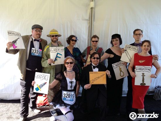 clue board game character runners - Board Games Halloween Costumes