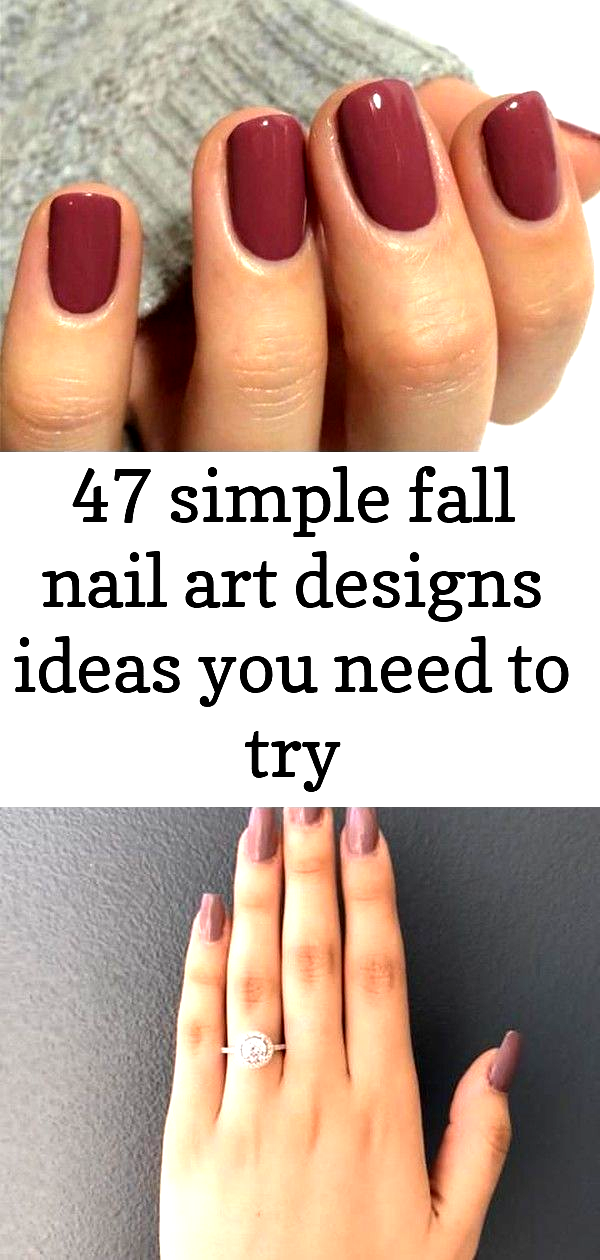 47 simple fall nail art designs ideas you need to try : #beautytips #beautyhacks…