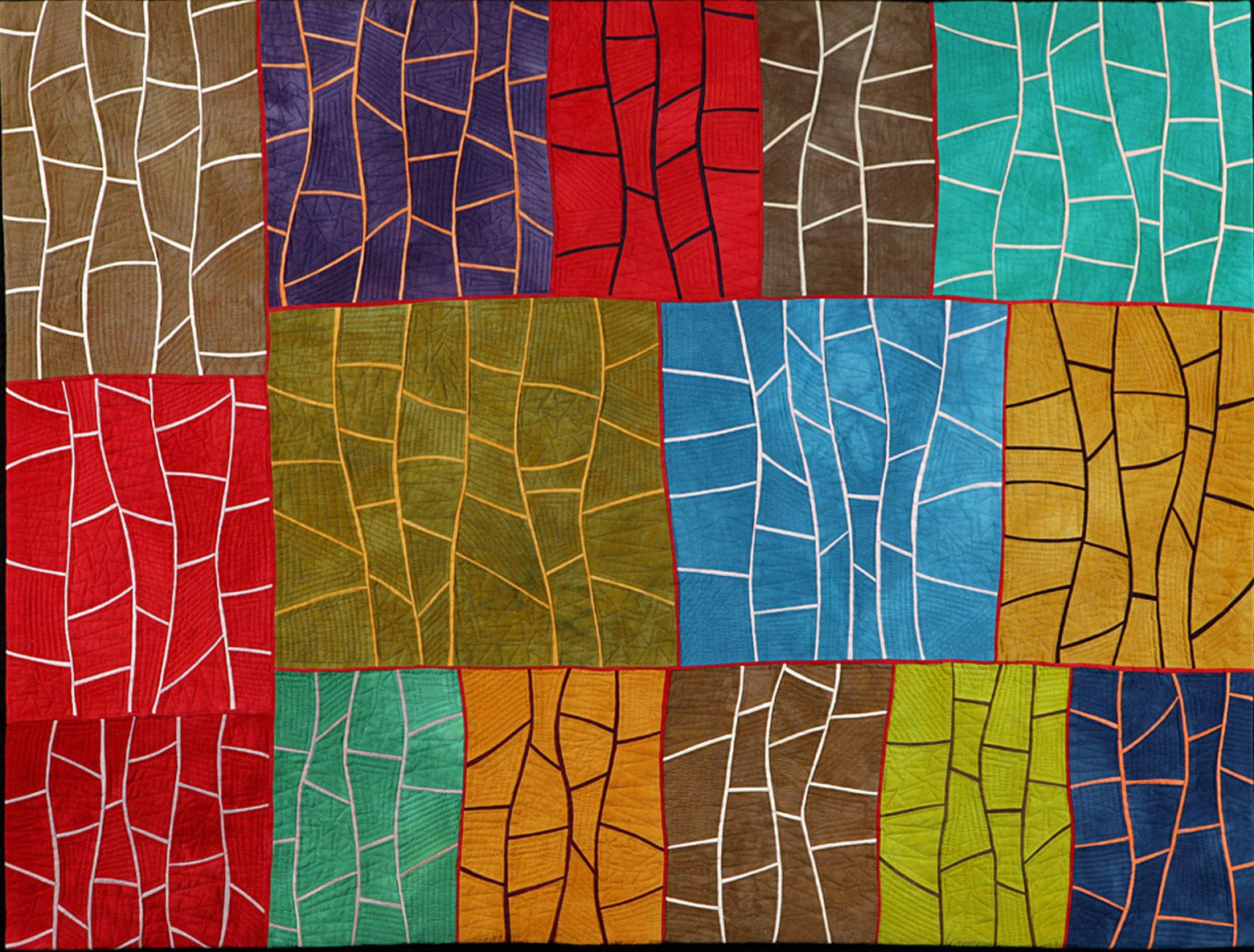 Growth by Janet Steadman (Fiber Wall Hanging | Machine quilting ...