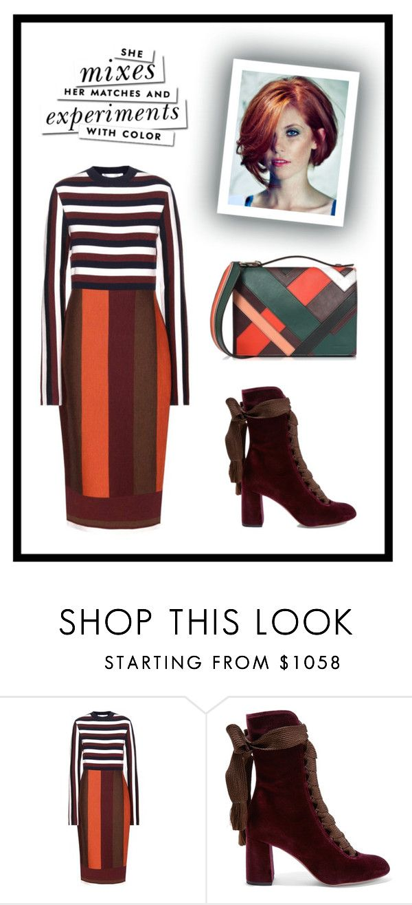"""Mixing Patterns"" by curlyelizabeth ❤ liked on Polyvore featuring Kate Spade, Victoria Beckham, Chloé and Emilio Pucci"