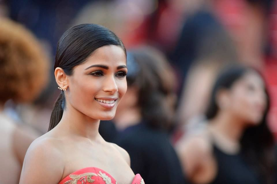 L'Oreal Paris Brand Ambassador Freida Pinto during the 67th Annual Cannes Film Festival May 18, 2014 in Cannes, France.