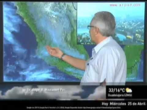 Estado del tiempo para la Zona Metropolitana de Guadalajara y Los Ángeles para hoy 25 de Abril de 2012