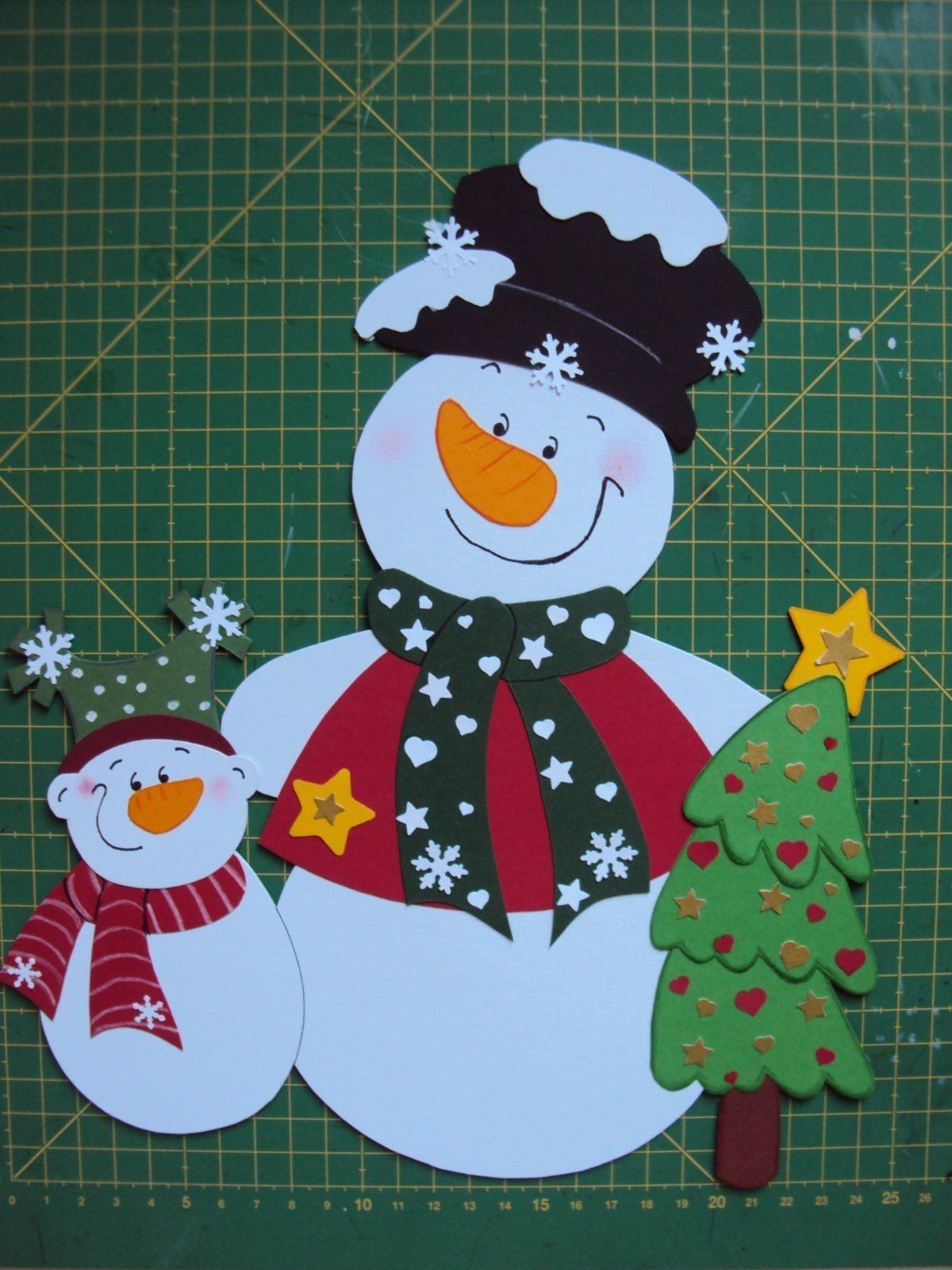 fensterbild tonkarton winter weihnachtenschneemann mit. Black Bedroom Furniture Sets. Home Design Ideas
