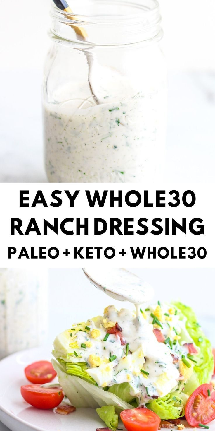 Easy Whole30 Ranch Dressing  The Bettered Blondie This Whole30 ranch dressing is my favorite version and it is so easy to make If you love ranch like I do then you will l...