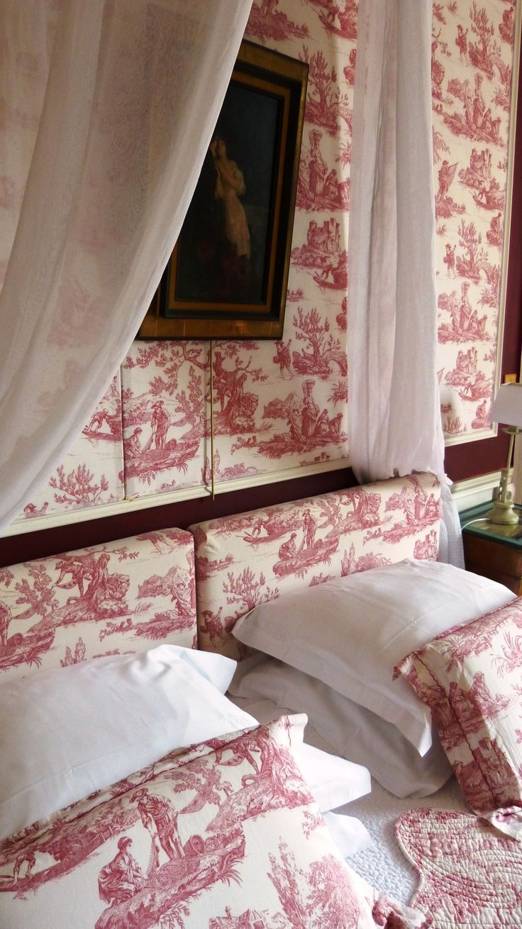 Decorating With Red Toile