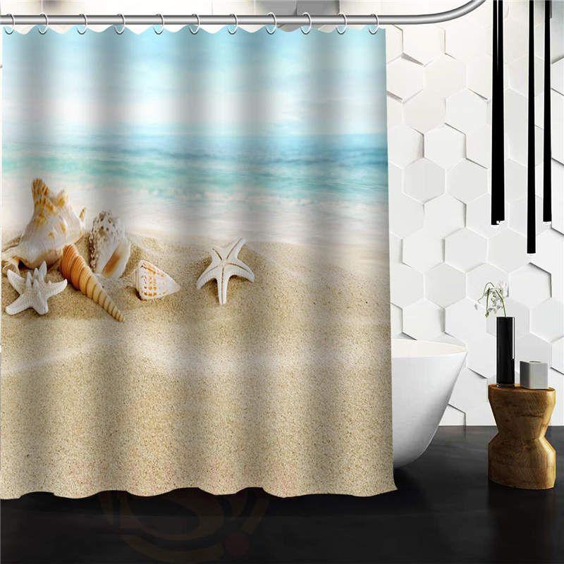 Online Shop New Custom Designed Seashell Seashells Beach Scene