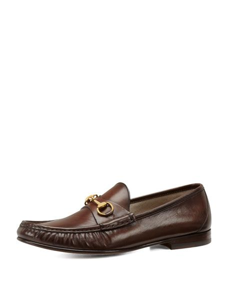 20028f8f84d GUCCI Leather Horsebit Loafer