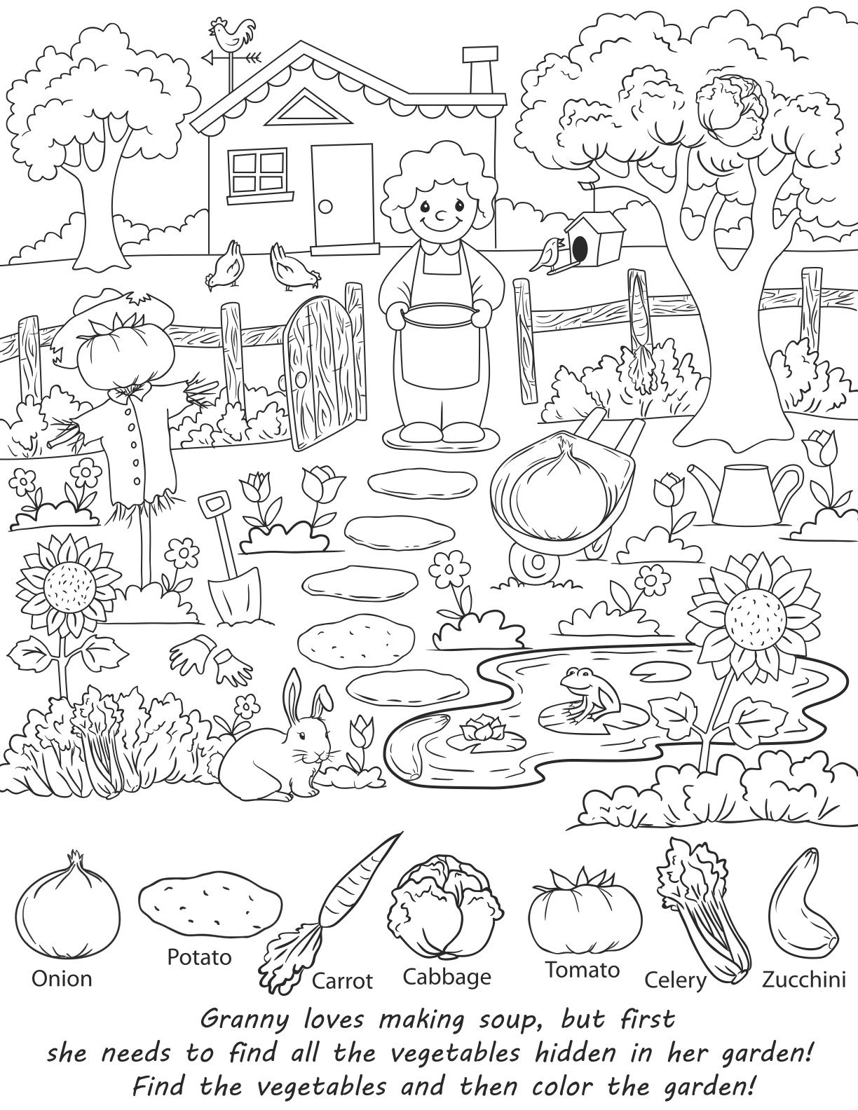 Valuable Coloring Pages For Adults With Hidden Objects