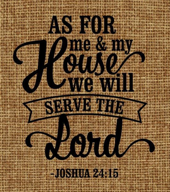 Burlap Frame Able Art As For Me And My House We Will Serve The Lord