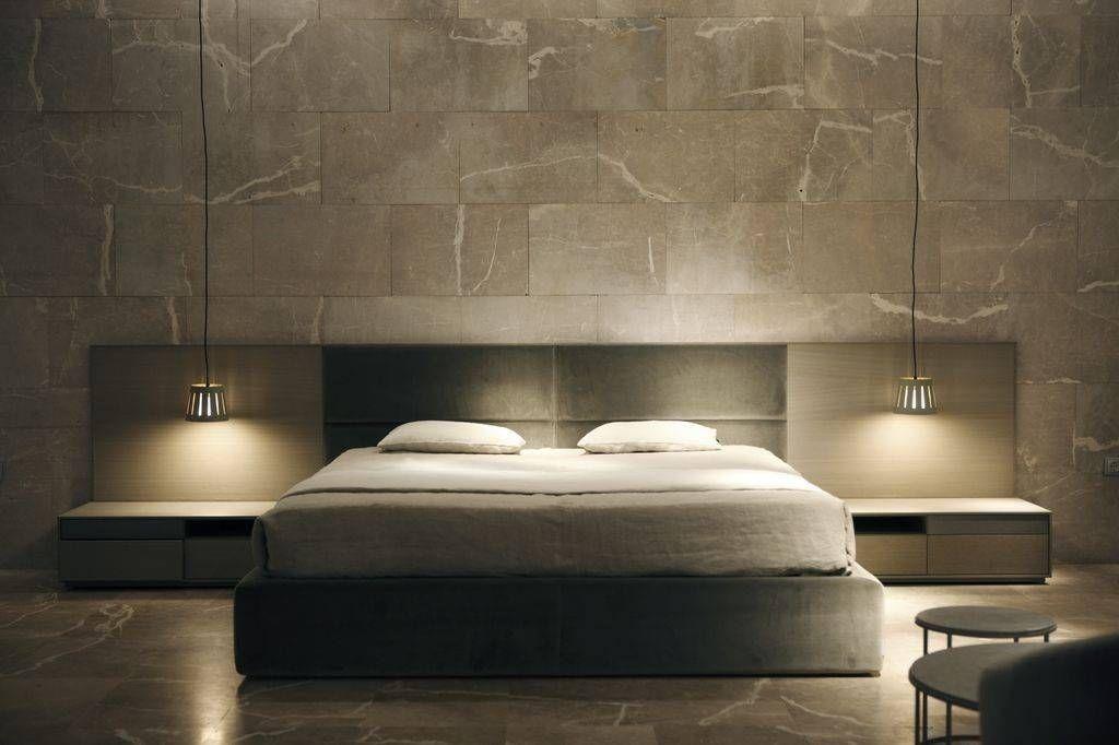 #cama tapizada cabecero bajo de Banni #bed