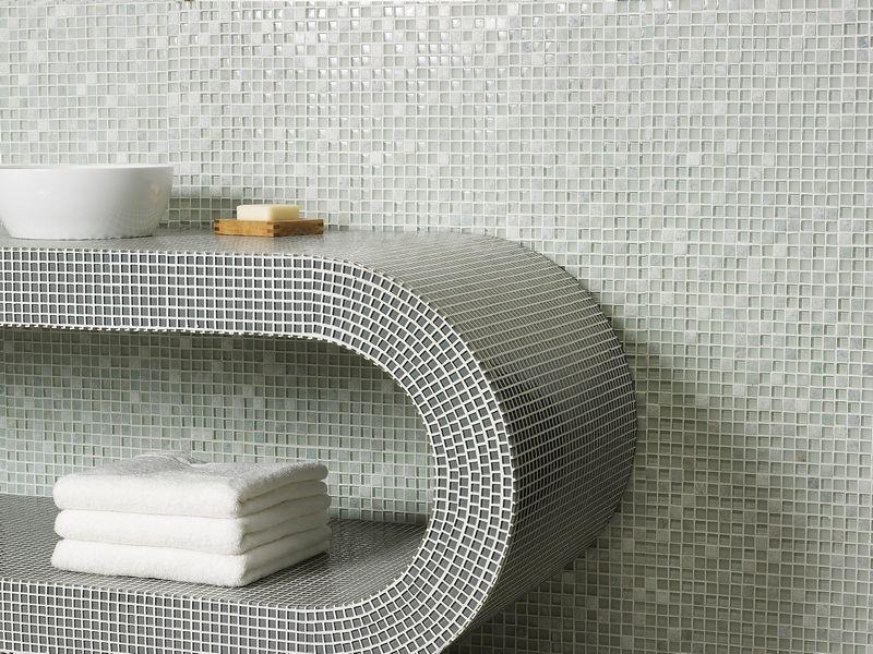 Mozaiek tegeltjes badkamer badkamer en moza ektegels pinterest badkamer tegels en badkamers - Mozaiek blauwe bad ...