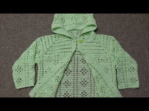 Suéter 3 a 4 años Crochet parte 4 de 4 - YouTube   sacos, camperas ...