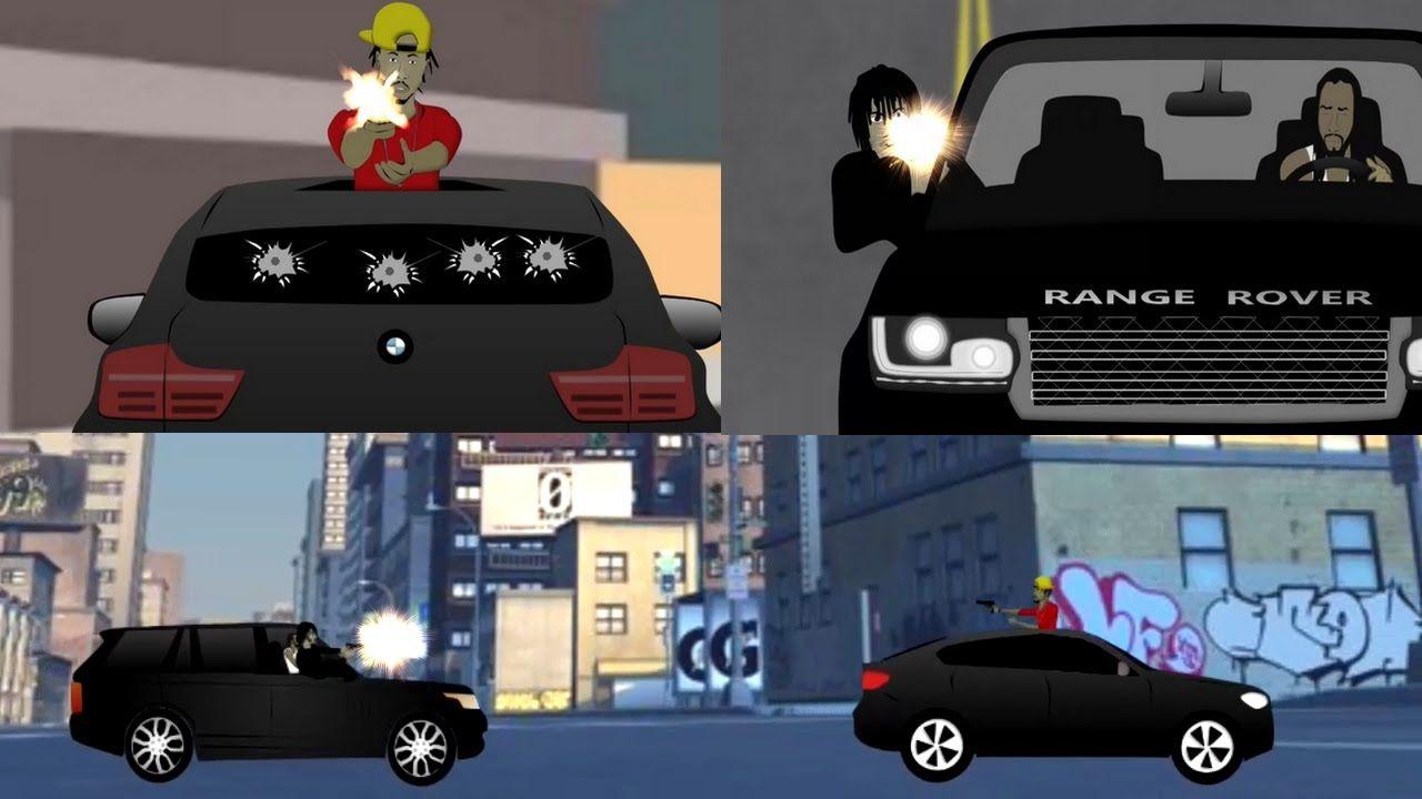 Alkaline & Popcaan Microwave Gun Battle… Jamaican Cartoon