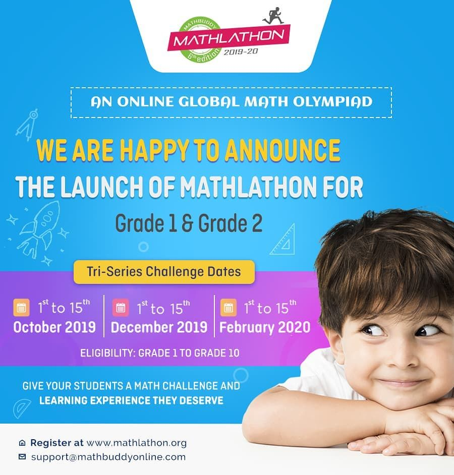 Mathlathon Launched For Grade And Grade 2 Students Register At
