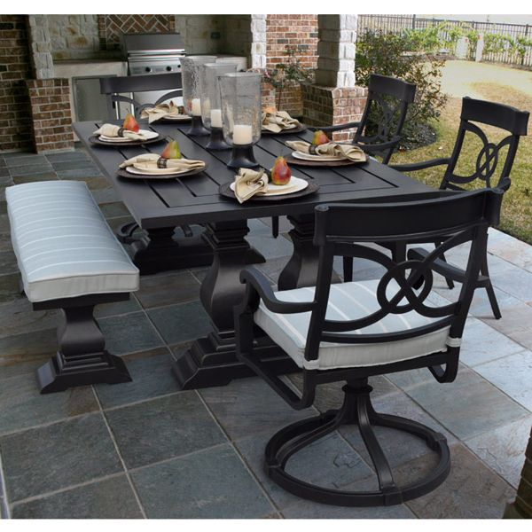 Bon Epic In Style U0026 Proportions, This Patio Dining Set Features An Extravagant  Look
