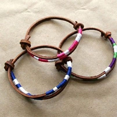 Diy Leather Friendship Bracelets Trinkets In Bloom 20 Lacing Emb Floss