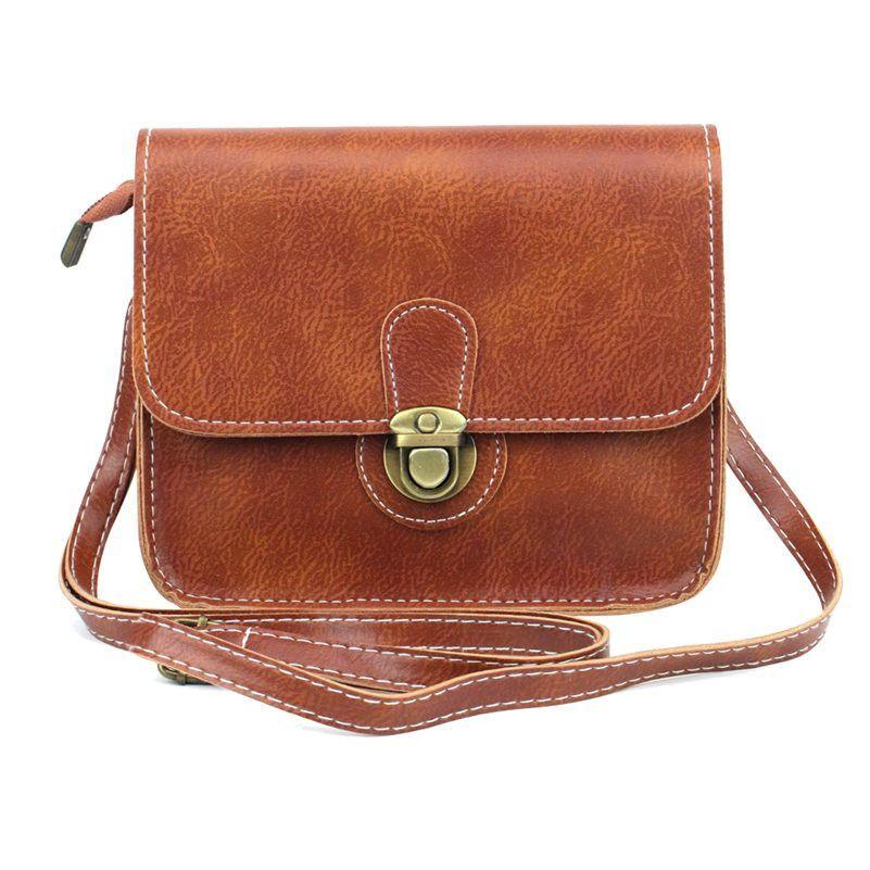 Casual Women Messenger Bags Vintage Small Flap Shoulder Crossbody Bag for  Women Pu Leather Handbags Purse bolsas black cf10675ff1