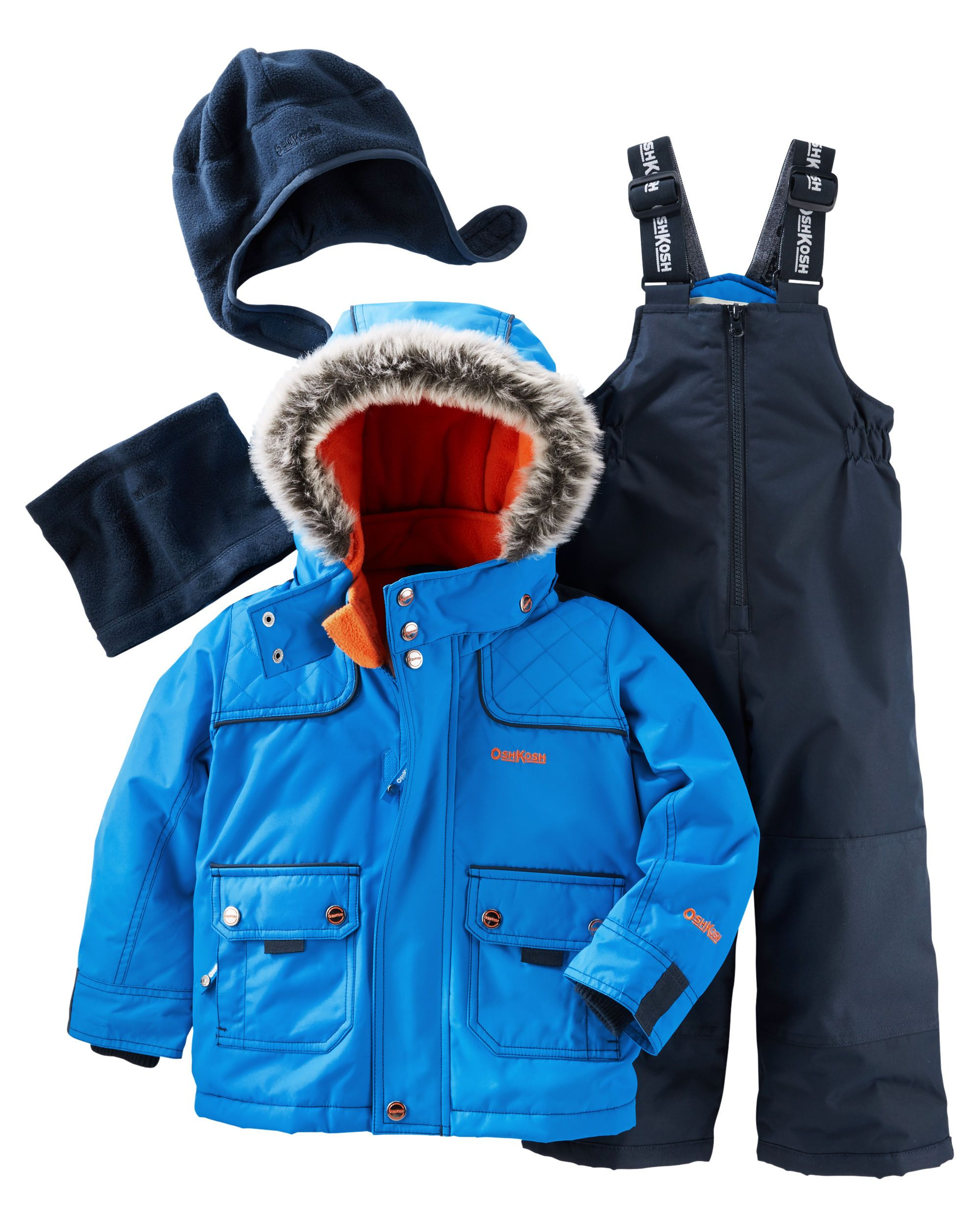 91428abce Toddler Boy 4-Piece Fleece-Lined Snowsuit Set | Carter's OshKosh Canada