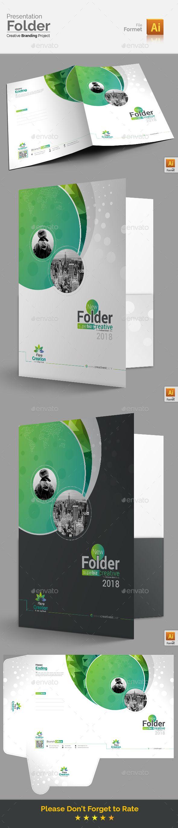 Presentation Folder Template Vector EPS, InDesign INDD, AI ...