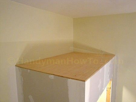 How To Build A Basement Closet Plywood Cap Installation Handymanhowto Com Building A Basement Basement Closet Basement